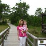 With Mommy at Cape Lookout - July 10th