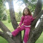 Climbing the apple trees at Grandma and Grandpa's - September 17th 2011