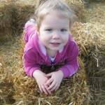 Just relaxing on a haybale - October 15th 2011